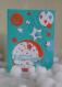 Carte d'anniversaire bleue ballons pop up étoilée multicolore