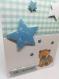Carte de félicitations naissance garçon petit ourson