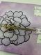 Carte d'anniversaire fleuris violette