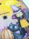 Carte halloween petite sorcière