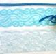 Bleu dentelle et garniture assortiment pour l'artisanat, junk journal d'approvisionnement, assortis embellissements de dentelle, couture d'approvisionnement