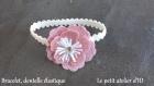 Bracelet en dentelle élastique, modèle unique, pour votre mariage, événement ou à offrir