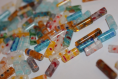 30x perles en verre de millefiori faites à la main - tube