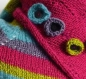 Echarpe / cheche laine tricoté main rose, verts anis menthe, gris