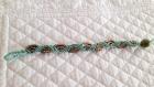 Bracelet micro macramé turquoise