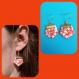 Boucles d'oreilles origami forme hexagonale