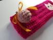 Petite trousse kawaii à double noeud colorée avec tête de mort joyeuse et rock !