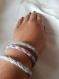 Trio de bracelet tissé, multi douce couleurs
