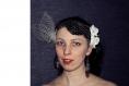 Voilette de mariage couleur ivoire et orchidées