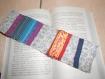 Marque-page patchwork de tissus