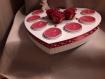 Centre de table coeur ange et bougies