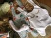 Doudou plat personnalisé - cadeau de naissance bébé
