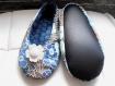 Chaussons fille t34  soldes !!  fleuris bleu