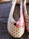 Chaussons kimono femme t37 rose/gris fleuris