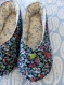 Chaussons femme kimono, tissu liberty