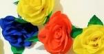 Grande rose colorée - fleur en papier - art floral décorative - grosse fleur en papier crépon