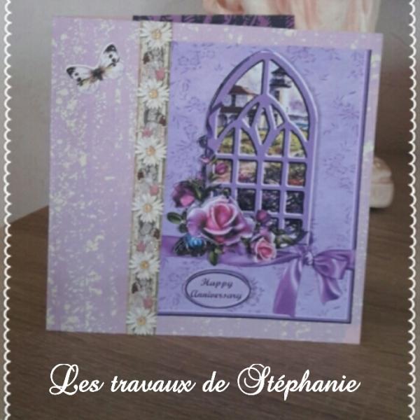 Carte De Voeux Danniversaire Pour Femme Par Travaux De Stephanie