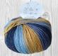 La  laine bolivia  bleu foncé, moutarde, bleu