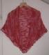 Magnifique grand chale rouge et rose laine bergere de france