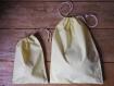 Grand sac à vrac 100% coton recyclé jaune pastel