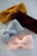 Headband bandeau en laine en crochet