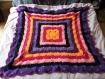 Plaid hippie - réalisation crochet