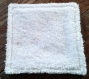 Idée cadeau de fête des mères - lot de 7 lingettes - carrés de coton lavables - lingettes démaquillantes
