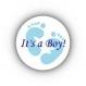 Lot de 12 stickers autocollants c'est une fille ou c'est un garçon