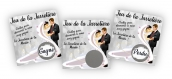 Tombola lot de cartes à gratter jeu de la jarretière spécial mariage