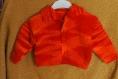 Gilet orange col revers 18 à 24 mois