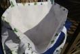 Tote bag en tissu brodé au point de croix thème cactus