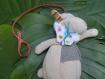 Pour retenir les petits (et les gros) doudous fugueurs ! attache doudou personnalisable