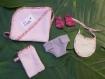 Chaussons pour poupée camaïeu rose