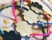 Bracelet ajustable nuage à personnaliser