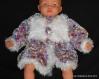 Manteau tricoté pour fille 1 an