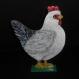 Coq et poule décoratifs en bois peints à la main