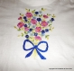 T-shirt pour fille taille 8 ans brodé bouquet de fleurs