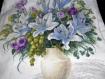 Sac en coton brodé bouquet de fleurs