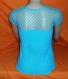 Haut en coton bleu au crochet pour femme taille 36/38