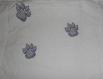 Sac à bandoulière en coton avec broderie chat