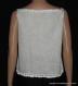 Débardeur en coton vert et blanc tricoté taille 38