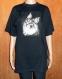 T-shirt adulte noir brodé chat taille 40/42