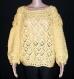Pull au crochet en laine jaune taille 44/46