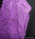 Pull sans manches en coton mauve au crochet taille 44