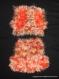 Gilet et jupe en laine orange pour bébé 1 an
