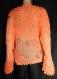 Pull en laine orange tricoté taille 42/44