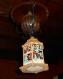 Lanterne en bois peinte décoration noël