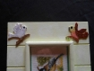 Boite en bois pour clés peinte avec broderie oiseaux
