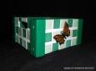 Vide poches en bois décoré à la main papillons et mosaïques