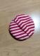 Eponge ronde lavable en coton rouge et blanc et tissu éponge pour le visage